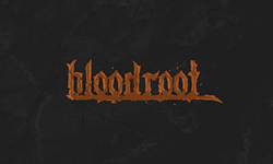 Logo design for Bloodroot indie video game project. Created with Adobe Illustrator and Adobe Photoshop.